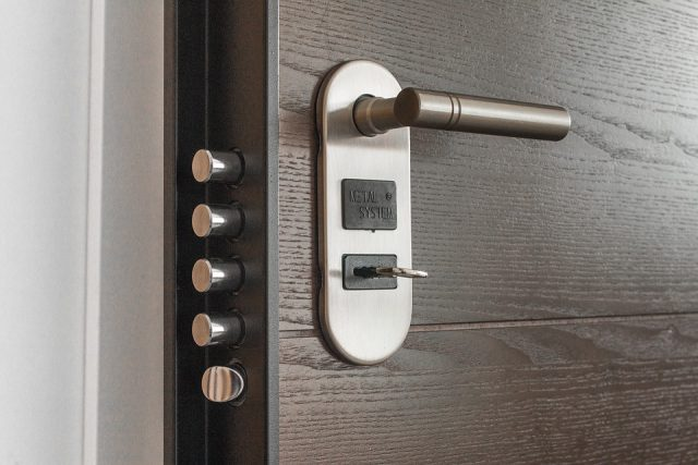 metal door lock