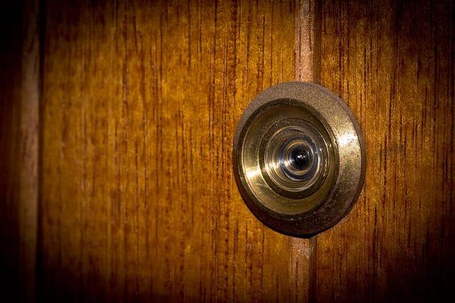 Wooden Door Peephole